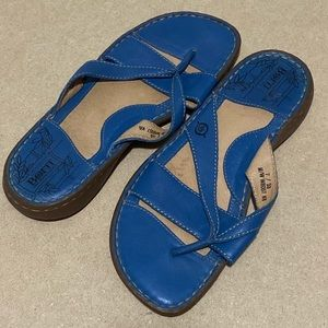 BORN royal blue sandals